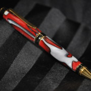 Red, White & Black Cigar Pen