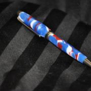 Blue, Red & White European Pen