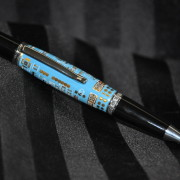 Blue Circuitry Board Wallstreet Pen